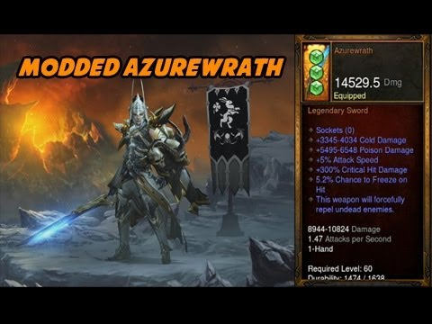 Diablo III - Modded Azurewath Sword (15K Damage)