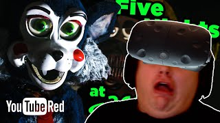 VIVE VR Reaction | Don't SCREAM! Surviving Five Nights at Candy's - Game Lab 360 Video