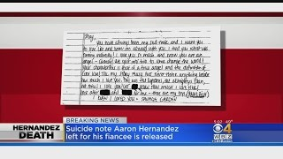 Suicide Note Left By Hernandez To His Fiancee Released