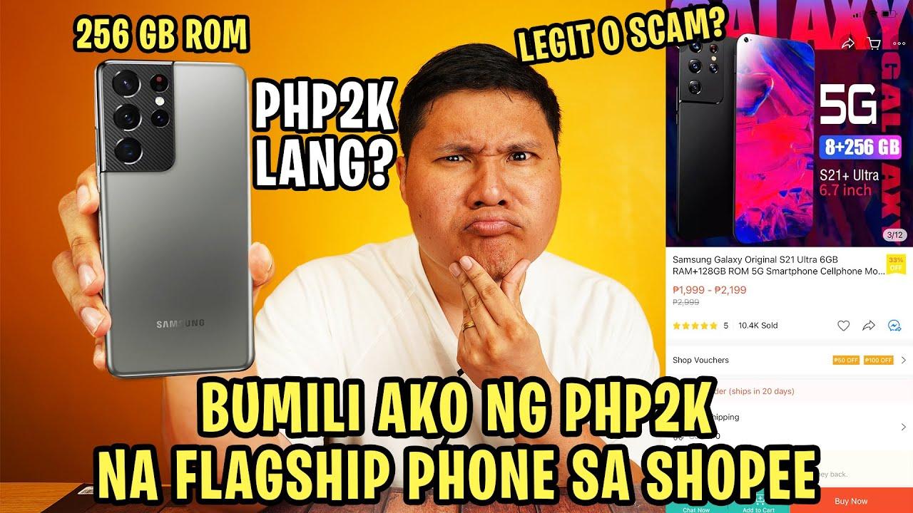 SAMSUNG GALAXY S21 ULTRA - PHP2K LANG SA SHOPEE?
