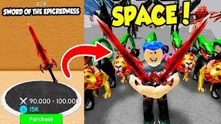 I GOT THE MOST EXPENSIVE MOON WEAPON IN WARRIOR SIMULATOR AND IT DOES 100000 DAMAGE!! (Roblox)