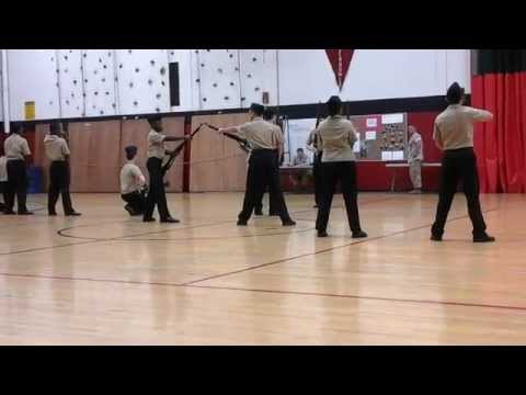 Harold L. Richards NJROTC Armed Exhibition Platoon 1st Place Eisenhower 2014-15