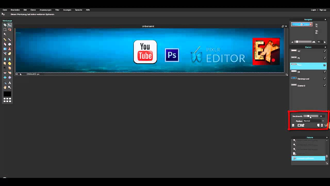 Pixlr Com Youtube Banner Erstellen Youtube