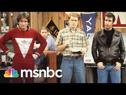 Henry Winkler Recalls Robin Williams' 'Happy Days' Debut  Rachel Maddow  MSNBC