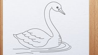 How to draw swan
