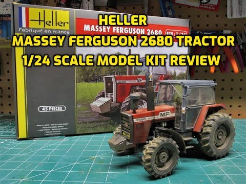 Heller 1/24 Massey Ferguson 2680 Tractor Scale Model Kit Build Review and Weathering