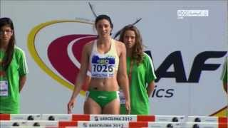 Repeat youtube video Michelle Jenneke Women's 100m Hurdles sexy dance Barcelona 2012 complete race