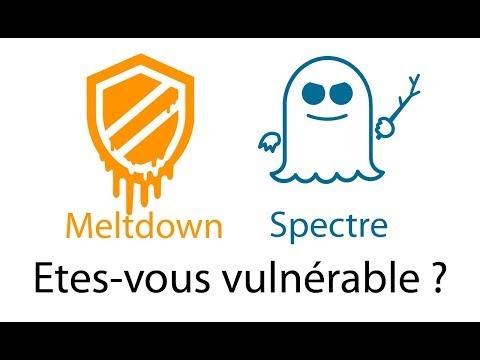 Spectre - Etes-vous vulnérable à l'attaque Spectre et Meltdown ?