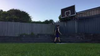 Epic throwing crossbar challenge with tennis ball