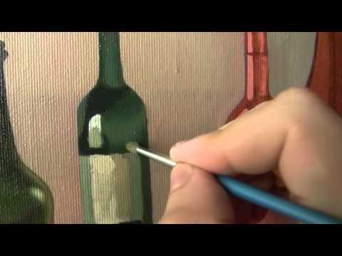 Как рисовать бутылку