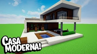 Minecraft: CONSTRUINDO UMA CASA MODERNA 9