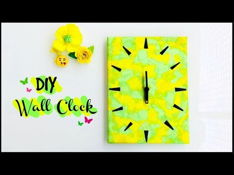 DIY Wall Clock   Canvas Clock