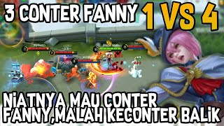 4 VS 1 FULL CONTER FANNY | MOBILE LEGENDS BANG BANG thumbnail