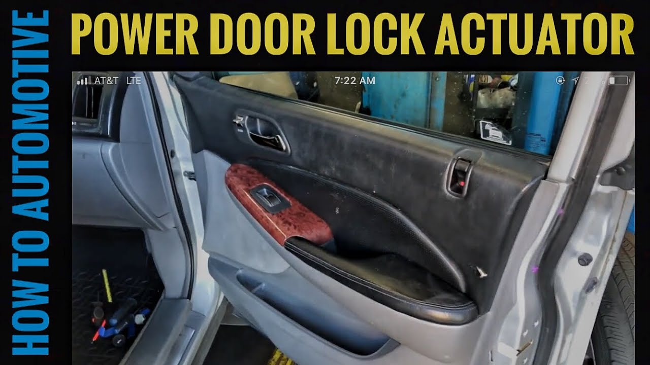 How To Replace The Front Power Door Lock Actuator On A