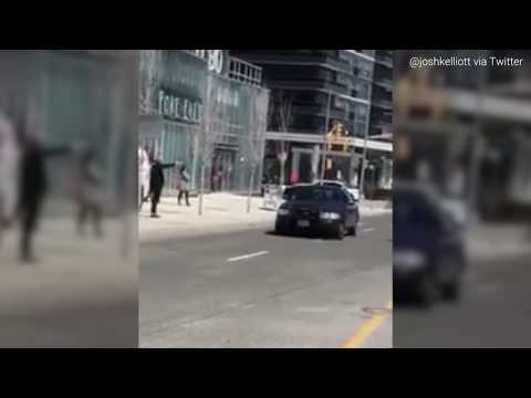 BREAKING: Videos of Toronto van suspect being arrested