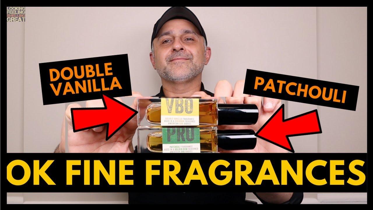 OK Fine Fragrances VBO Double Vanilla + PRO Patchouli Fragrance Review |  USA Full Bottle Giveaway