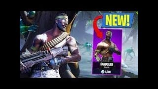 *New* Bandolier Skin Gameplay /Solid Gold mode/( Fortnite Battle Royale)