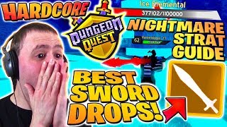 RAREST SWORD DROP ⚔️ BEST Build & Strat Guide SOLO Dungeon Quest Nightmare Winter HC | Roblox PRO PC