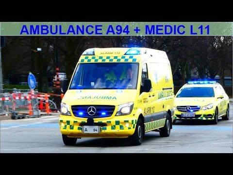 RTW A94 NEF L11 hovedstadens beredskab region hovedstaden ambulance i udrykning