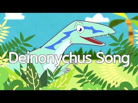 Deinonychus dinosaur song | jjoy song - dinosaur world #8