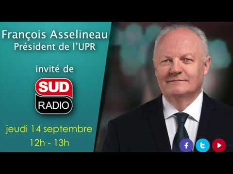 François Asselineau invité de Philippe David sur Sud Radio (14/09/2017)