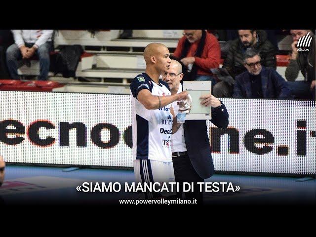 Superlega, l'intervista post Padova - Milano di Roberto Piazza