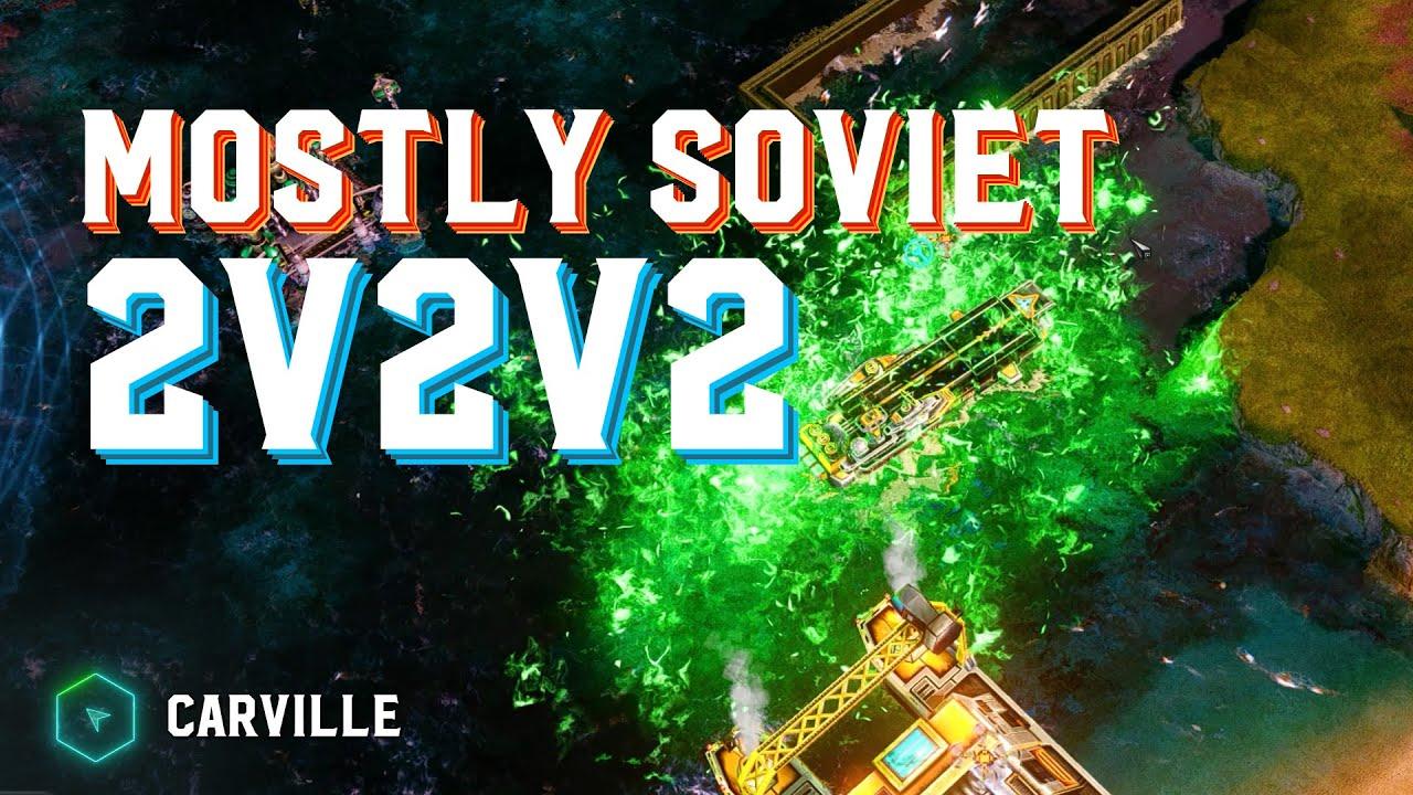 Rainy Day Games: Mostly Soviet 2v2v2 - Carville - Red Alert 3