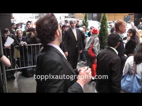 Silas Weir Mitchell - Signing Autographs at NBC Upfront in NYC