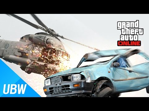 Can Helicopter Propellers Bust A Car Away? GTA5 Crazy Bird VS Panto