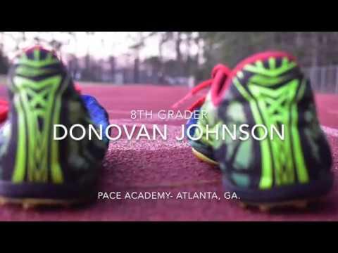 Donovan Johnson 8th grade track and field