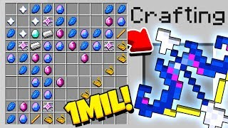 HOW TO CRAFT A $1,000,000 BOW! *OVERPOWERED* (Minecraft 1.13 Crafting Recipe)