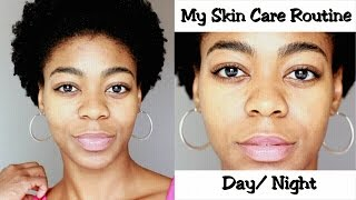 My Skin Care Routine Day/Night - (oily skin, acne prone, hyperpigmentation help) - 4C Natural Hair