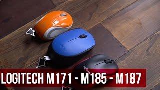 Chuột không dây Logitech M171-M187-M185 - Unbox, đánh giá nhanh