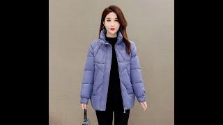 Женские свободные парки модные зимние толстые пальто со стоячим воротником элегантные хлопковые