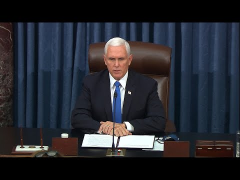 Mike Pence speaks after pro-Trump rioters storm U.S. Capitol: 'Unprecedented violence and vandalism'