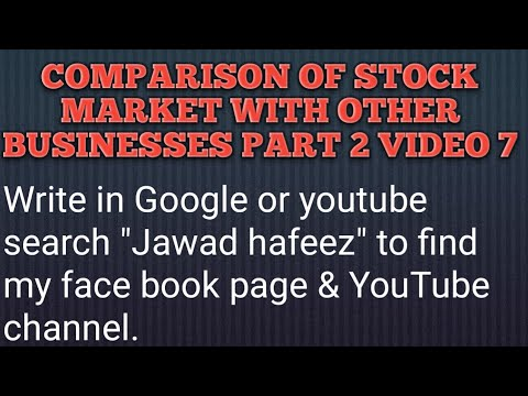 comparison of the stock market to other businesses - part 2 - video 7