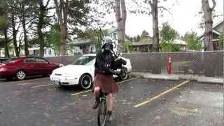 Darth Vader and the Imperial March on Bagpipes and Unicycle - The Unipiper
