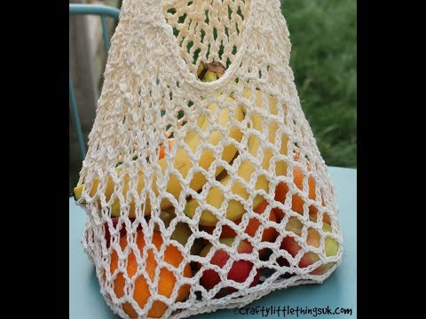 Long Handled Crochet Mesh Bag