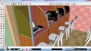 Small Cyber Cafe Design In Sketchup Youtube