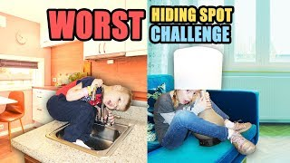 Last to Be FOUND in The WORST HIDING PLACE WINS! Hide and Seek Game!