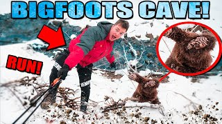 BIGFOOT CAVE FOUND in Real Life using SPY GADGETS 😱 (Sasquatch Evidence)