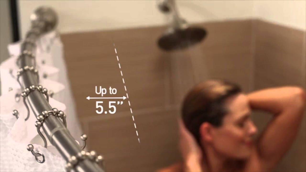 Moen DN2170 Curved Shower Rod - YouTube