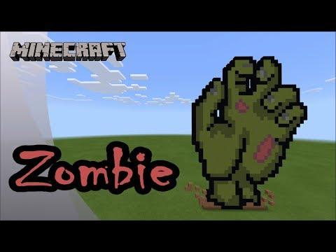 Minecraft: Pixel Art Tutorial and Showcase: Zombie Hand (Happy Halloween) thumbnail