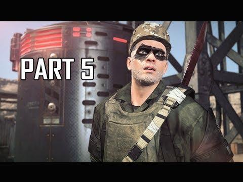 METAL GEAR SURVIVE Walkthrough Part 5 - Stomach Ache (PS4 Pro 4K Let's Play)
