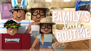 Family's Daily Routine! | Roblox Bloxburg Roleplay