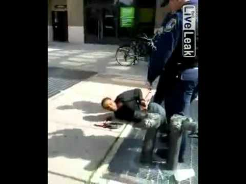 Guy on wheelchair taken down by officers