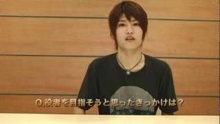 「東京俳優市場2010冬」第二話から船曳健太さんインタビュー。