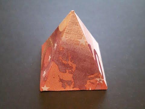 zahl 6 aus geldscheinen falten origami geldgeschenk n doovi. Black Bedroom Furniture Sets. Home Design Ideas