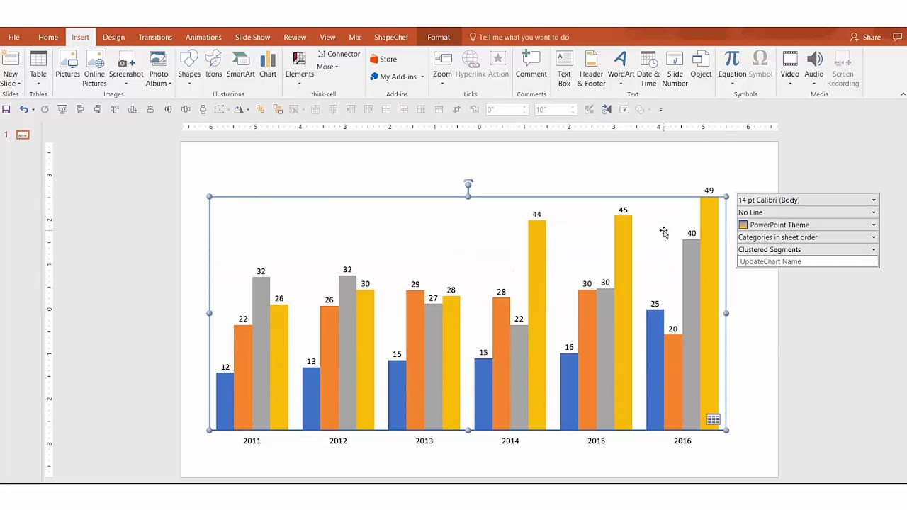 Tips - How to Create Amazing Charts using Think-Cell?