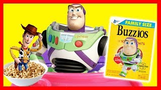 Woody and Buzz Eat Cheerios in Toy Story 4 Morning Routine